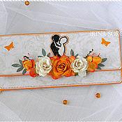 Открытки ручной работы. Ярмарка Мастеров - ручная работа Свадебный денежный конверт. Handmade.