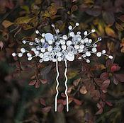 Свадебный салон handmade. Livemaster - original item Pearl Bridal hairpin. the decoration in the bride`s hairstyle. Handmade.
