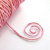 Материалы для творчества ручной работы. Ярмарка Мастеров - ручная работа Шнур из розовой бумаги с проволокой внутри. Handmade.