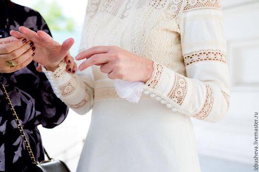 Платья ручной работы. Ярмарка Мастеров - ручная работа. Купить Подвенечное платье Ирина. Handmade. Белый, платье для венчания, лён
