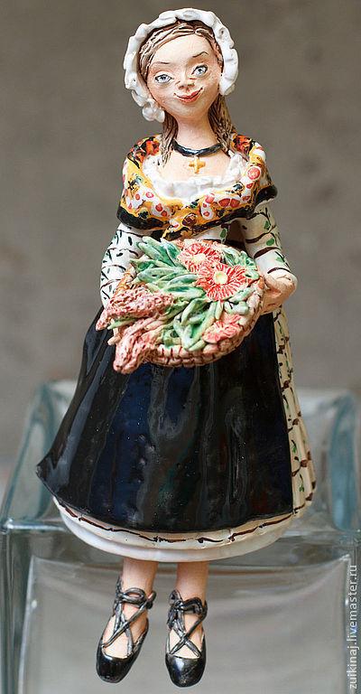 Колокольчики ручной работы. Ярмарка Мастеров - ручная работа. Купить Колокольчик Прованские травы. Handmade. Черный, фартук, пряные травы