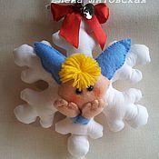 Куклы и игрушки ручной работы. Ярмарка Мастеров - ручная работа Снежинка 1. Handmade.
