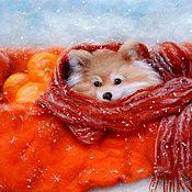 """Картины и панно ручной работы. Ярмарка Мастеров - ручная работа """"Апельсин"""". Handmade."""