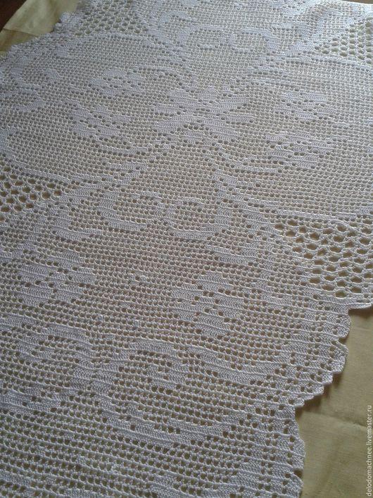Текстиль, ковры ручной работы. Ярмарка Мастеров - ручная работа. Купить Большая салфетка - дорожка - скатерть. Handmade. Белый
