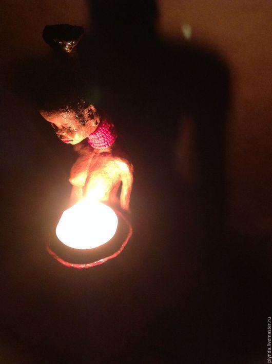 Подсвечник и статуэтка Негритянка. Автор Татьяна Плында (Candlestick and figurine Negress by Plynda Tatyana)