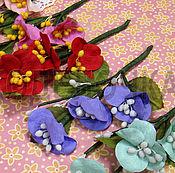 Материалы для творчества ручной работы. Ярмарка Мастеров - ручная работа Букет цветов Ручной работы 1 ветка 13 см. Handmade.