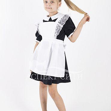 Товары для малышей ручной работы. Ярмарка Мастеров - ручная работа Фартук для школы, 3-270бд, белый. Handmade.