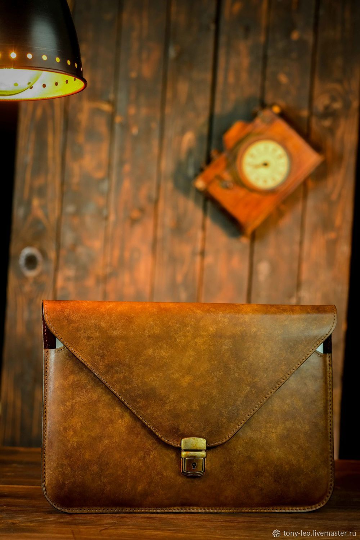 Leather case for MacBook with buckle, Case, Krasnodar,  Фото №1