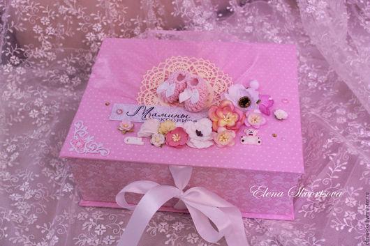 """Подарки для новорожденных, ручной работы. Ярмарка Мастеров - ручная работа. Купить Коробочка  """"Мамины сокровища"""". Handmade. Розовый, сокровища, для девочки"""