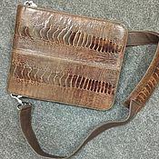 Сумки и аксессуары handmade. Livemaster - original item Bag-tablet men`s, shoulder, ostrich leather.. Handmade.