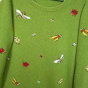 """Одежда ручной работы. Ярмарка Мастеров - ручная работа Кофта вязаная с вышивкой""""Скоро лето"""".. Handmade."""