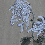 Картины и панно ручной работы. Ярмарка Мастеров - ручная работа Хризантема на шелковой форме.. Handmade.
