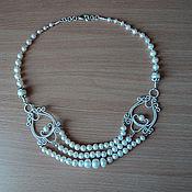 Украшения ручной работы. Ярмарка Мастеров - ручная работа ожерелье жемчужинка. Handmade.