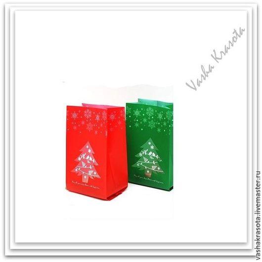 """Упаковка ручной работы. Ярмарка Мастеров - ручная работа. Купить Пакет """"Новогодняя  Елочка""""   20х9,5х6,7 см. Handmade."""