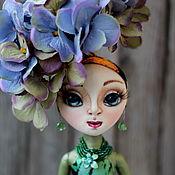 Куклы и игрушки ручной работы. Ярмарка Мастеров - ручная работа Коллекционная кукла-цветок Гортензия. Handmade.