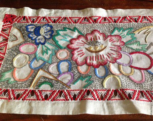 Винтажные предметы интерьера. Ярмарка Мастеров - ручная работа. Купить Дорожка вышивка 30-40-е года Винтаж. Handmade.