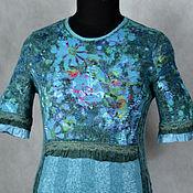 """Одежда ручной работы. Ярмарка Мастеров - ручная работа платье валяное """"Цветы для Русалки"""". Handmade."""