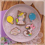 handmade. Livemaster - original item Gingerbread with unicorn. Handmade.