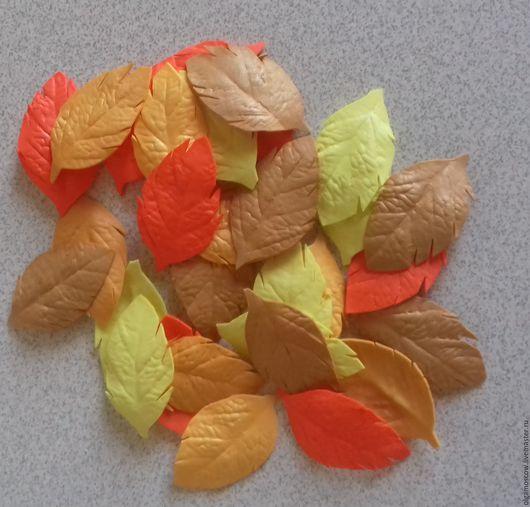 Фоамиран ручной работы. Ярмарка Мастеров - ручная работа. Купить Осенние листья. Handmade. Комбинированный, лист, листья розы, фоамиран