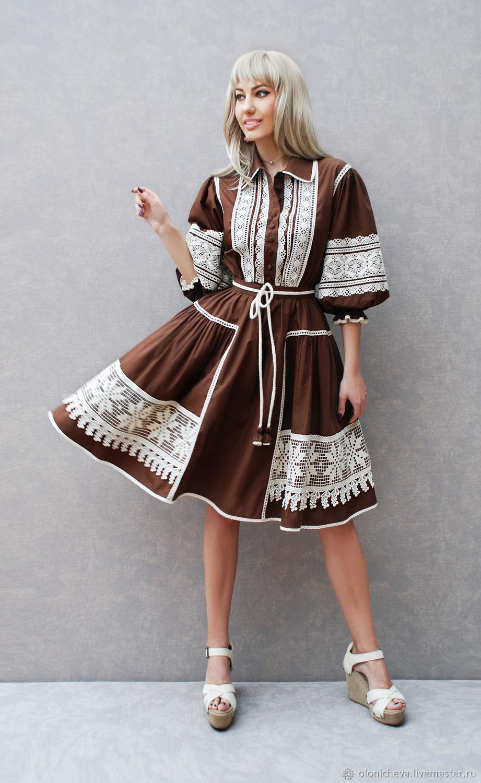 """Кружевное платье """"Шоколадное"""". Новая коллекция, Dresses, Vinnitsa,  Фото №1"""