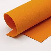 Материалы для творчества ручной работы. Ярмарка Мастеров - ручная работа Корейский мягкий фетр 1,5 мм, ST-07(оранжевый). Handmade.