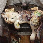 Для дома и интерьера handmade. Livemaster - original item chablis - wine cat (ceramic). Handmade.