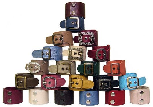 Браслеты ручной работы. Ярмарка Мастеров - ручная работа. Купить кожаные браслеты. Handmade. Кожа