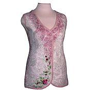 handmade. Livemaster - original item vests: Felted vest Dusty Rose.. Handmade.