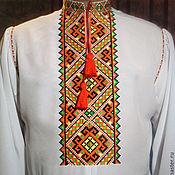 Одежда ручной работы. Ярмарка Мастеров - ручная работа Рубашка вышитая мужская. Handmade.
