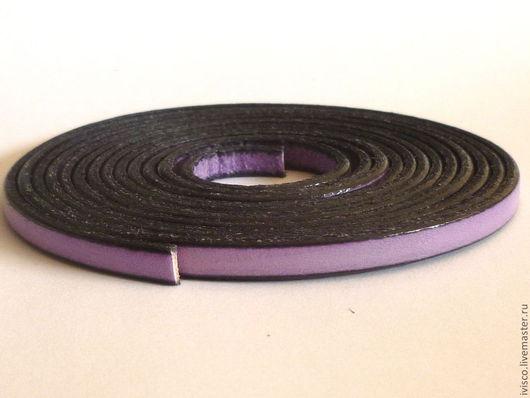 Для украшений ручной работы. Ярмарка Мастеров - ручная работа. Купить Кожаный шнур 5х2мм  сиреневый матовый. Handmade.
