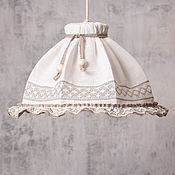 Для дома и интерьера handmade. Livemaster - original item White pendant light. Shabby chic. Vintage.. Handmade.