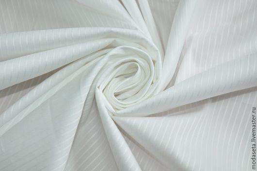 Шитье ручной работы. Ярмарка Мастеров - ручная работа. Купить Хлопок рубашечный с шелком, Италия. Handmade. Ткани шанель