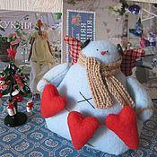 Куклы и игрушки ручной работы. Ярмарка Мастеров - ручная работа Снеговик тильда. Handmade.