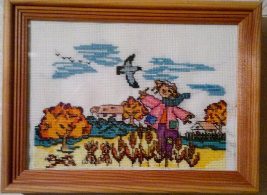 Пейзаж ручной работы. Ярмарка Мастеров - ручная работа. Купить Осенний сторож. Handmade. Рыжий, пугало, осень, поле, вороны
