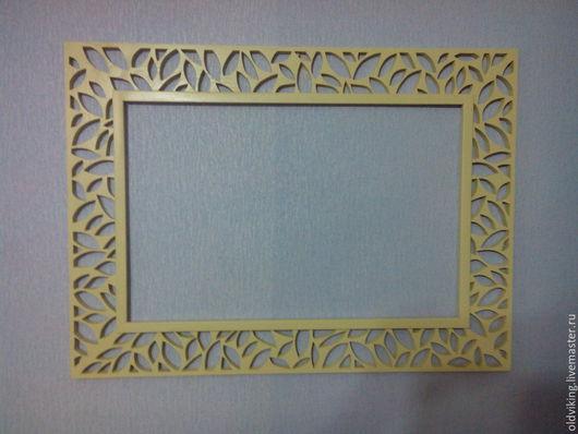 Зеркала ручной работы. Ярмарка Мастеров - ручная работа. Купить рама для зеркала листики. Handmade. Бежевый, для интерьера, рама для зеркала