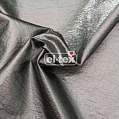 Материалы для творчества handmade. Livemaster - original item Black silver raincoat fabric OE0256. Handmade.