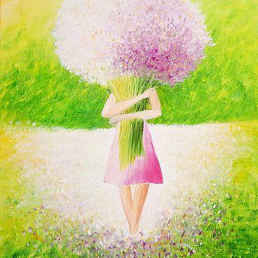"""Картины и панно ручной работы. Ярмарка Мастеров - ручная работа """"Букет цветов"""" (копия картины). Handmade."""