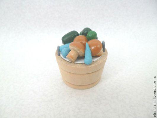 Куклы и игрушки ручной работы. Ярмарка Мастеров - ручная работа. Купить Ведерко с овощами мини. Handmade. Посуда для кукол