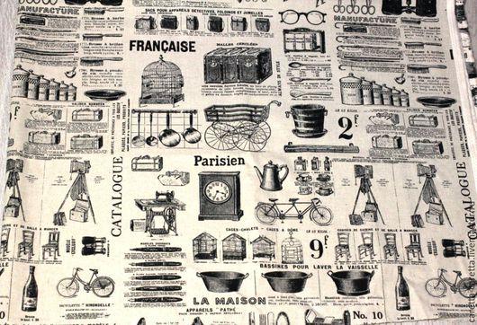 Шитье ручной работы. Ярмарка Мастеров - ручная работа. Купить Ткань лён небеленый с рисунком. Handmade. Ткань для кукол, бежевый