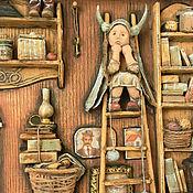 """Картины и панно ручной работы. Ярмарка Мастеров - ручная работа """" Another great find..."""" миниатюра папье-маше на дереве. Handmade."""
