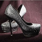 Обувь ручной работы. Ярмарка Мастеров - ручная работа Стразы на туфлях. Handmade.