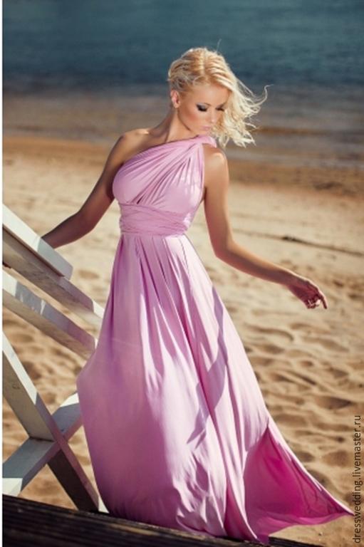 Платья ручной работы. Ярмарка Мастеров - ручная работа. Купить Розовое платье трансформер. Handmade. Розовое платье, платье вечернее