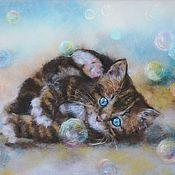 """Картины и панно ручной работы. Ярмарка Мастеров - ручная работа """"Мыльные пузыри"""". Handmade."""