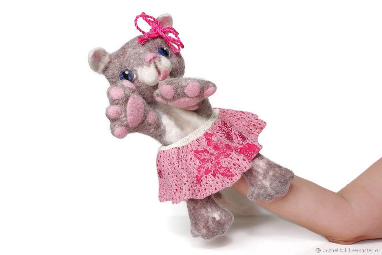Кошка валяная перчаточная кукла, Кукольный театр, Ростов-на-Дону,  Фото №1