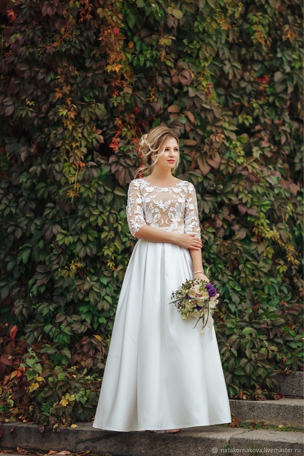 5b42bcf9b3c Wedding crop top and skirt. natakornakova (natakornakova).