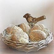 Подарки к праздникам ручной работы. Ярмарка Мастеров - ручная работа Пасхальная композиция в эко стиле. Handmade.