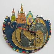 """Картины и панно ручной работы. Ярмарка Мастеров - ручная работа Часы """"Кошки"""". Handmade."""