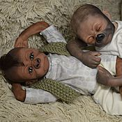 Куклы и игрушки handmade. Livemaster - original item Reborn monkey(gorilla), Pearl, Kiwi Gorilla, by Denise Pratt. Handmade.