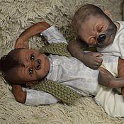 Куклы и игрушки ручной работы. Ярмарка Мастеров - ручная работа Реборн обезьянка(горилла), Pearl, Kiwi  Gorilla, by Denise Pratt. Handmade.
