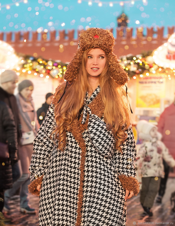 Двойное пальто с экомехом, Пальто, Москва,  Фото №1